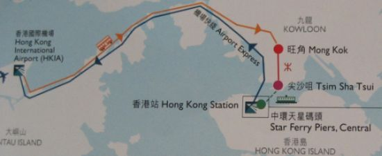 Hong Kong International Airport (HKIA) - Mongkok - Hong Kong Avenue of Stars.
