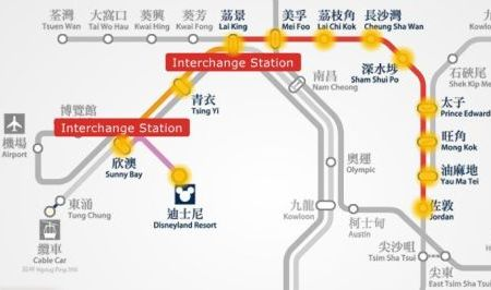 disney to kowloon mtr map
