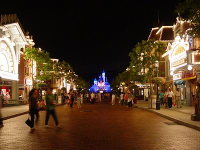 Main Street, U.S.A at night
