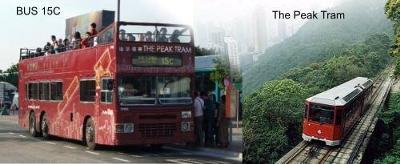 Bus 15C and the Peak Tram