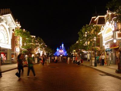 Main Street, U.S.A at night